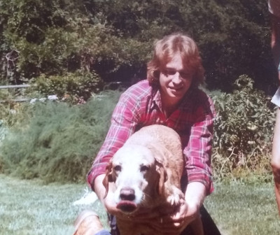 Dan MacDonald as a teenager with his dog
